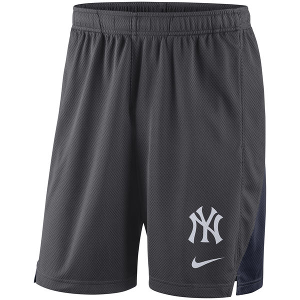 Men's New York Yankees Nike Anthracite Franchise Performance Shorts