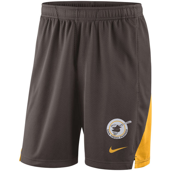 Men's San Diego Padres Nike Brown Franchise Performance Shorts