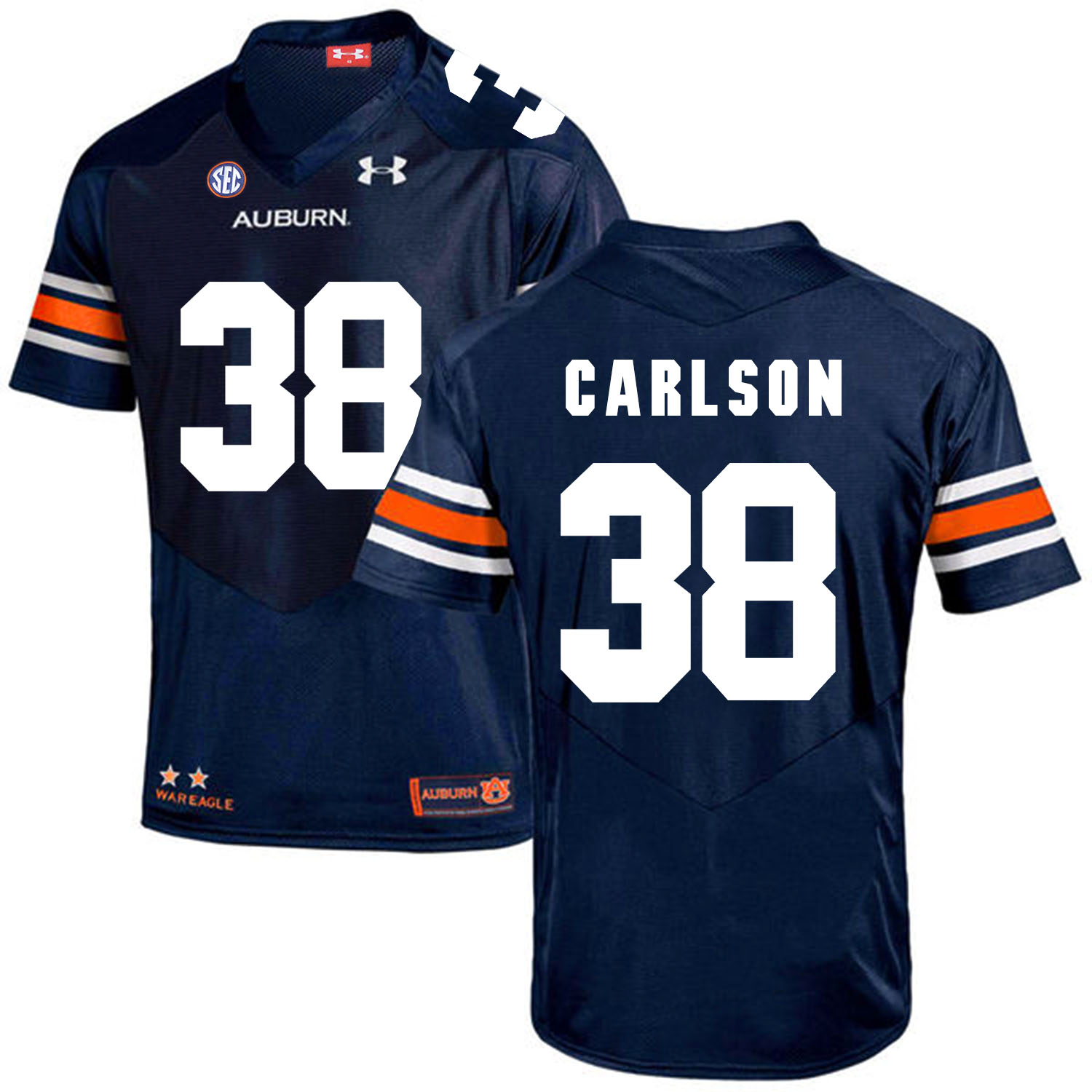 Auburn Tigers 38 Daniel Carlson Navy College Football Jersey