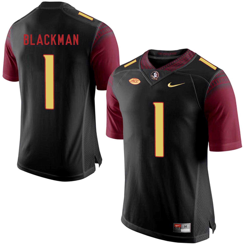 Florida State Seminoles 1 James Blackman Black College Football Jersey