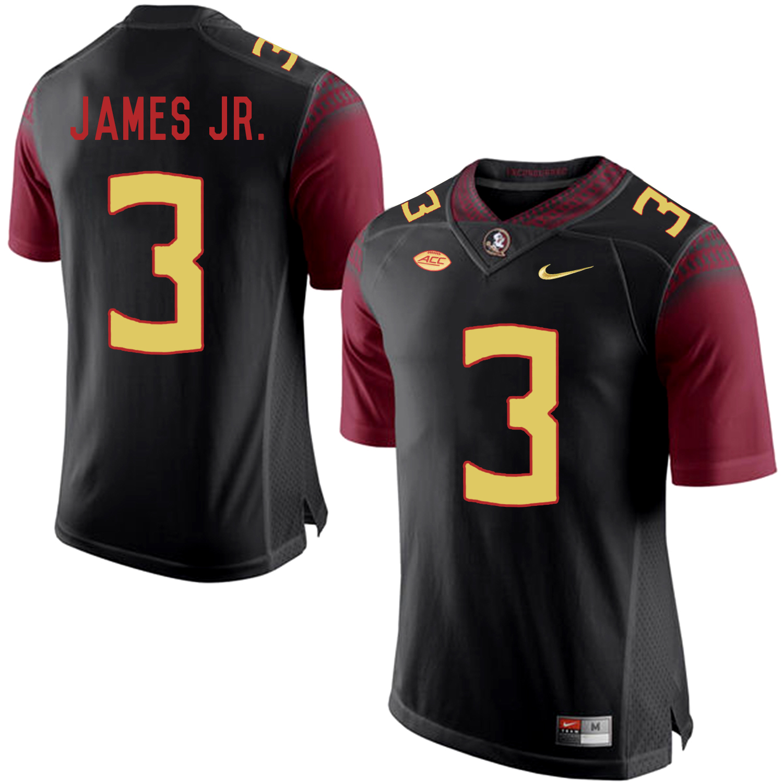 Florida State Seminoles 3 Derwin James JR. Black College Football Jersey