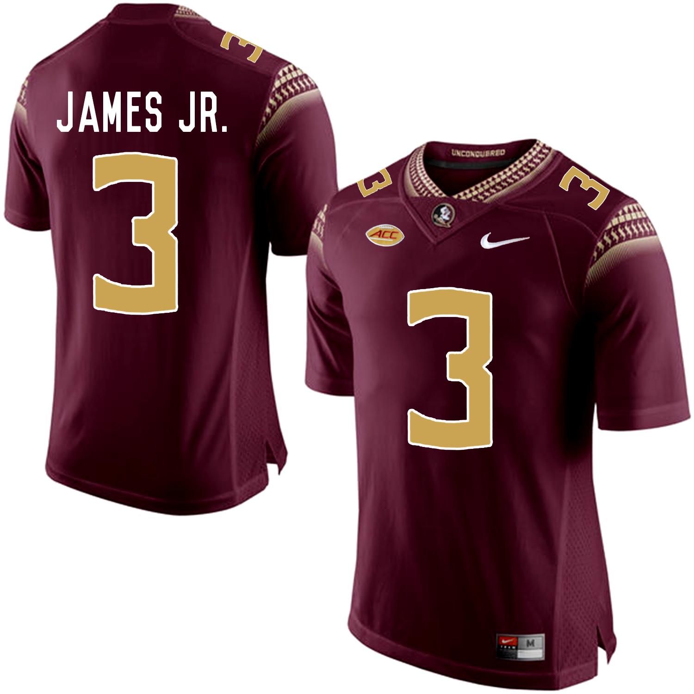 Florida State Seminoles 3 Derwin James JR. Marroon College Football Jersey