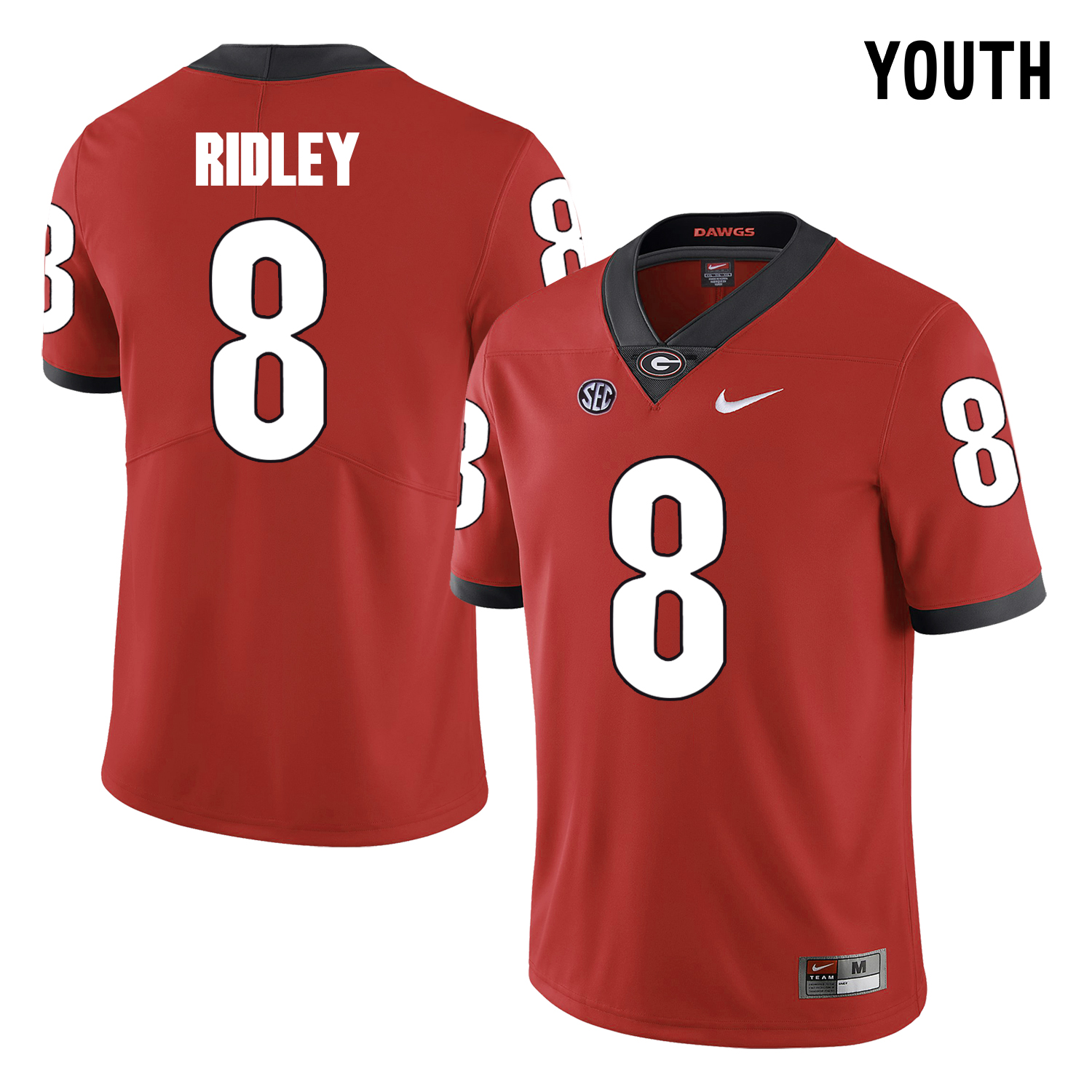 Georgia Bulldogs 8 Riley Ridley Red Youth College Football Jersey