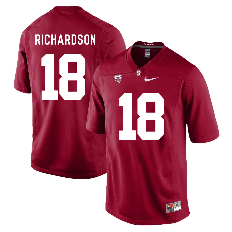 Stanford Cardinal 18 Jack Richardson Cardinal College Football Jersey