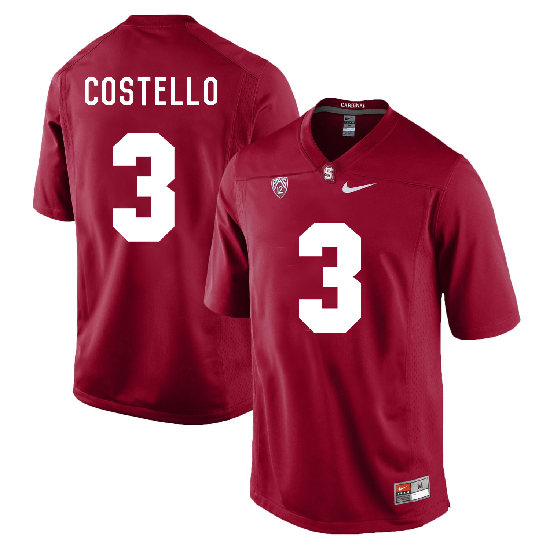 Stanford Cardinal 3 K.J. Costello Cardinal College Football Jersey