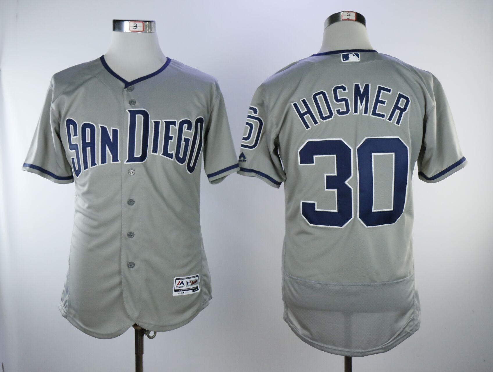 Padres 30 Eric Hosmer Gray Flexbase Jersey