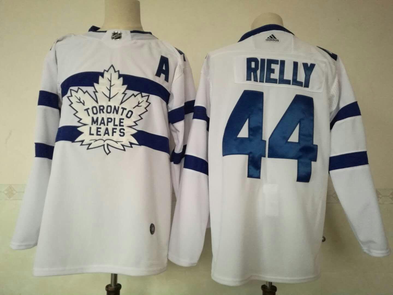 Maple Leafs 44 Morgan Rielly White 2018 NHL Stadium Series Adidas Jersey