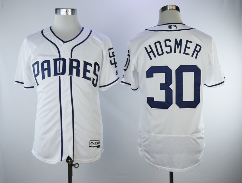 Padres 30 Eric Hosmer White Flexbase Jersey
