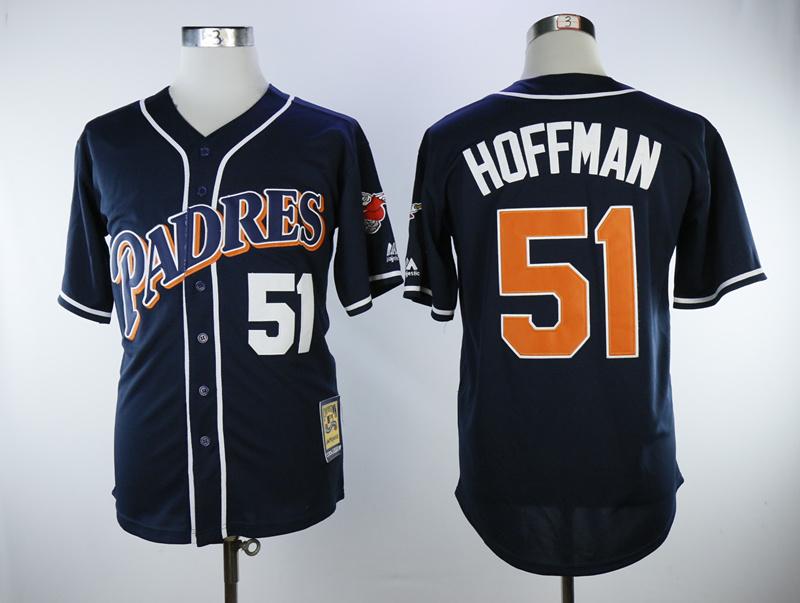 Padres 51 Trevor Hoffman 1998 Cooperstown Collection Jersey