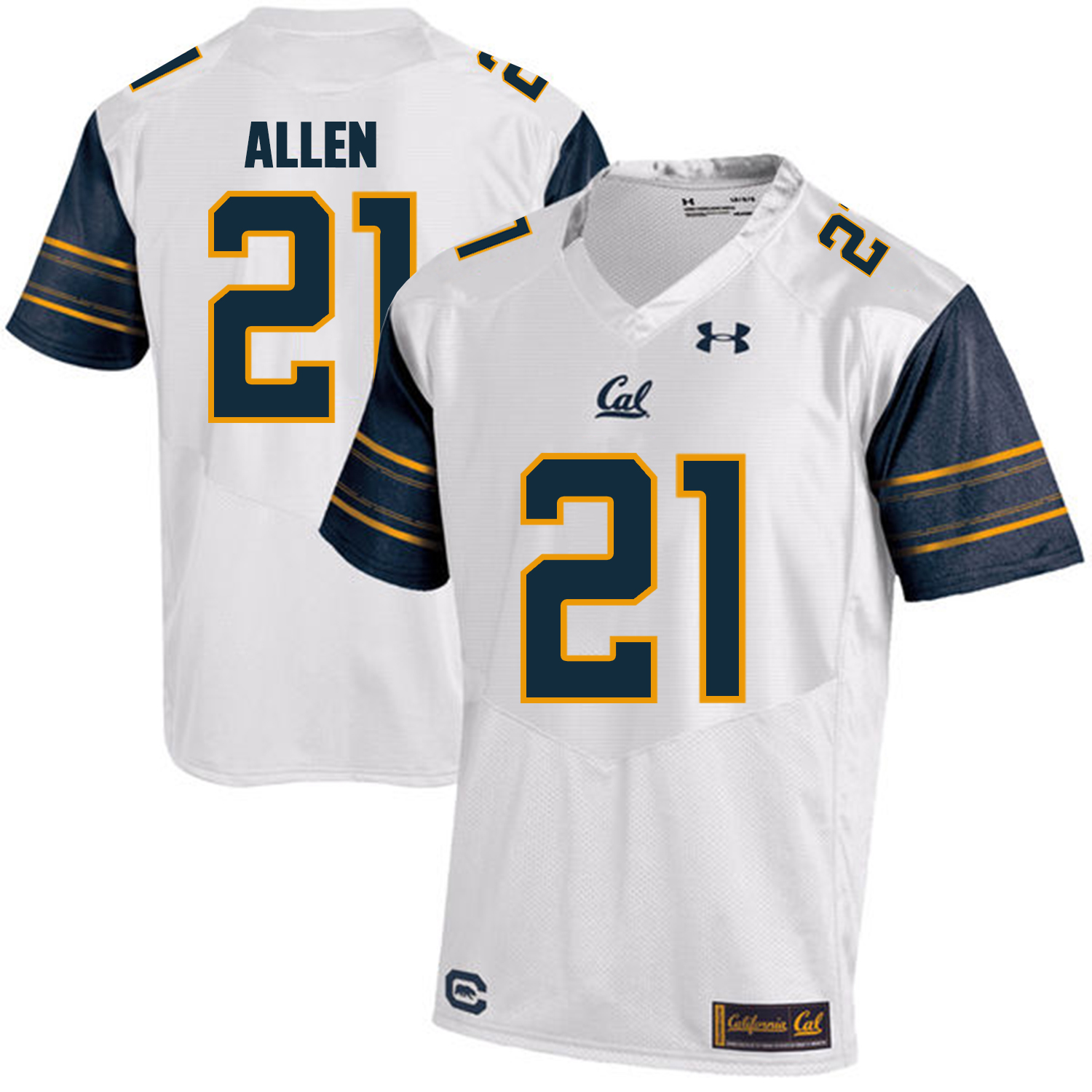 California Golden Bears 21 Keenan Allen White College Football Jersey
