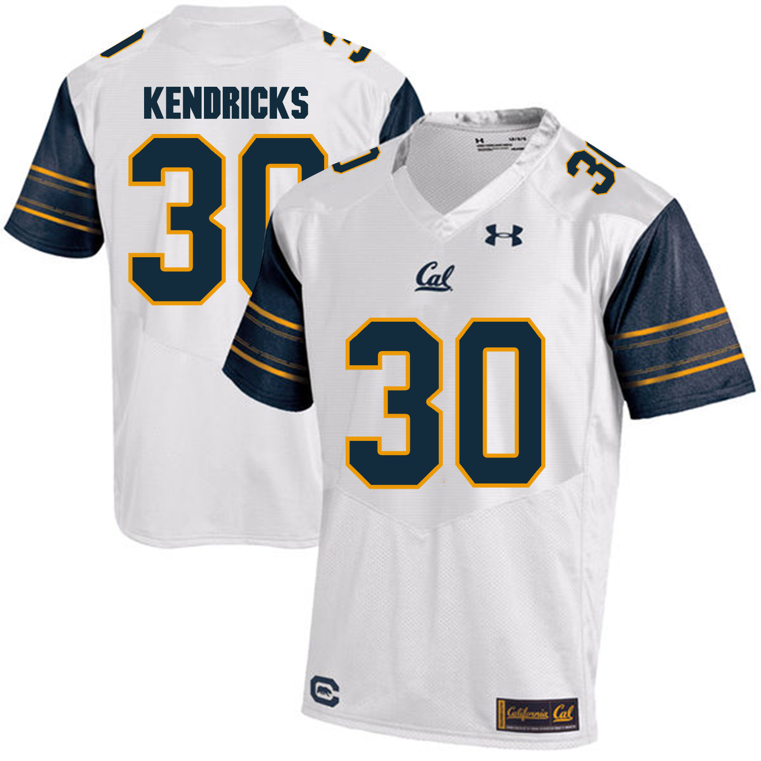 California Golden Bears 30 Mychal Kendricks White College Football Jersey