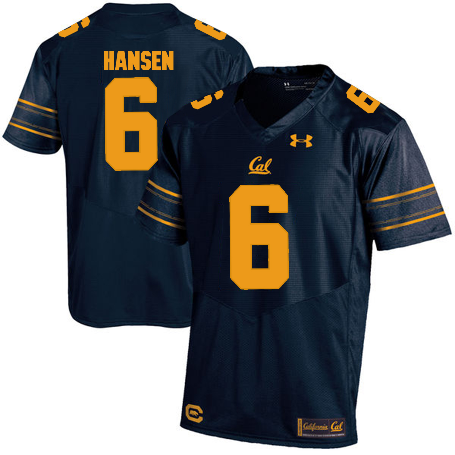 California Golden Bears 6 ChadHansen Navy College Football Jersey