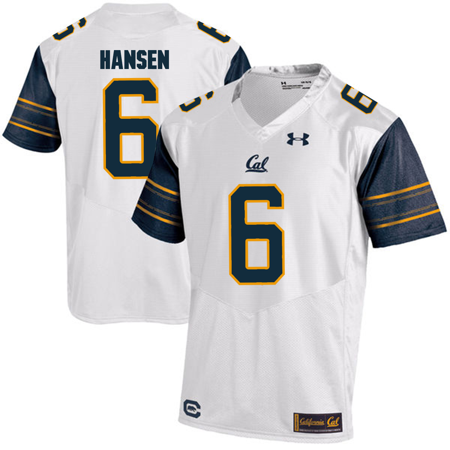 California Golden Bears 6 ChadHansen White College Football Jersey