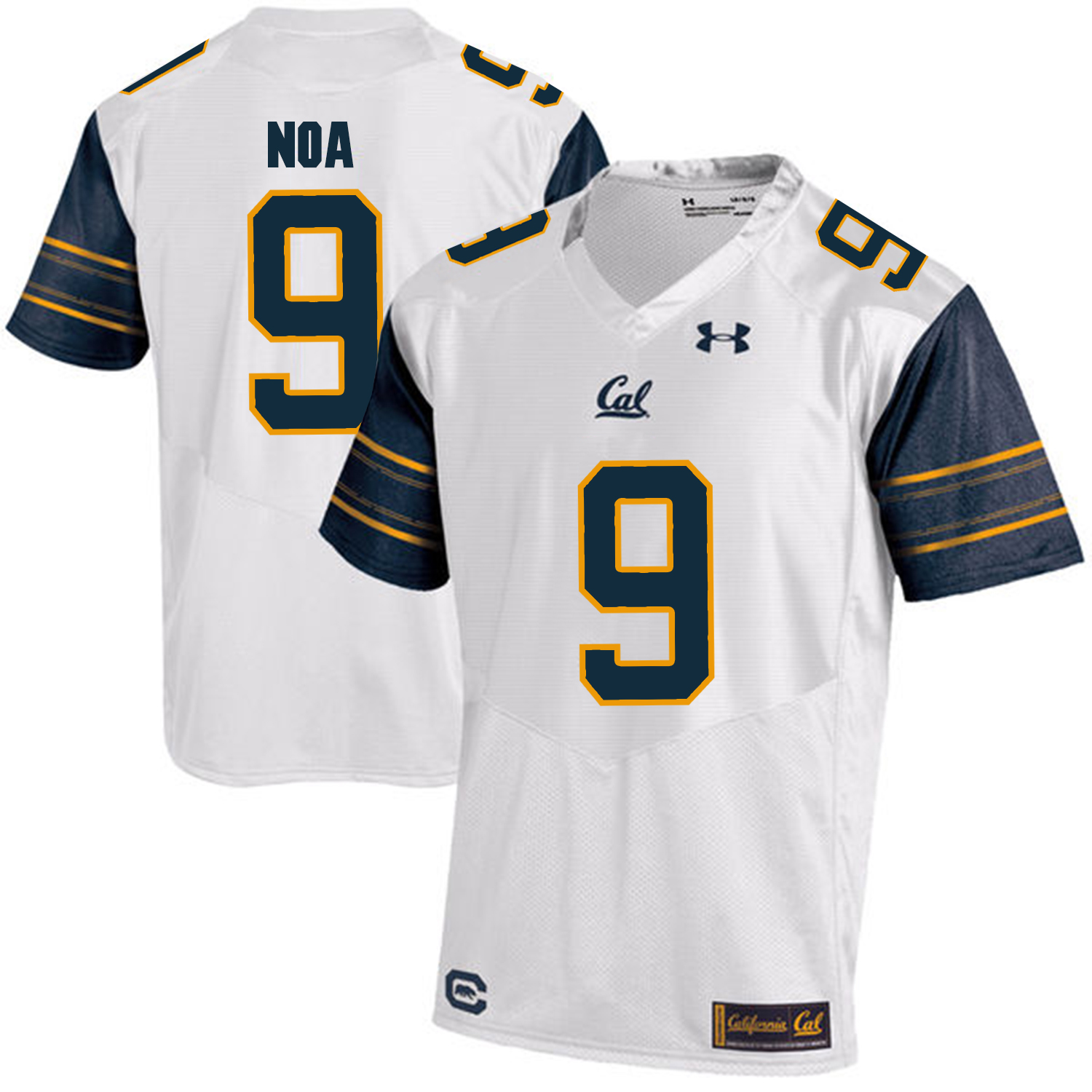 California Golden Bears 9 Kanawai Noa White College Football Jersey