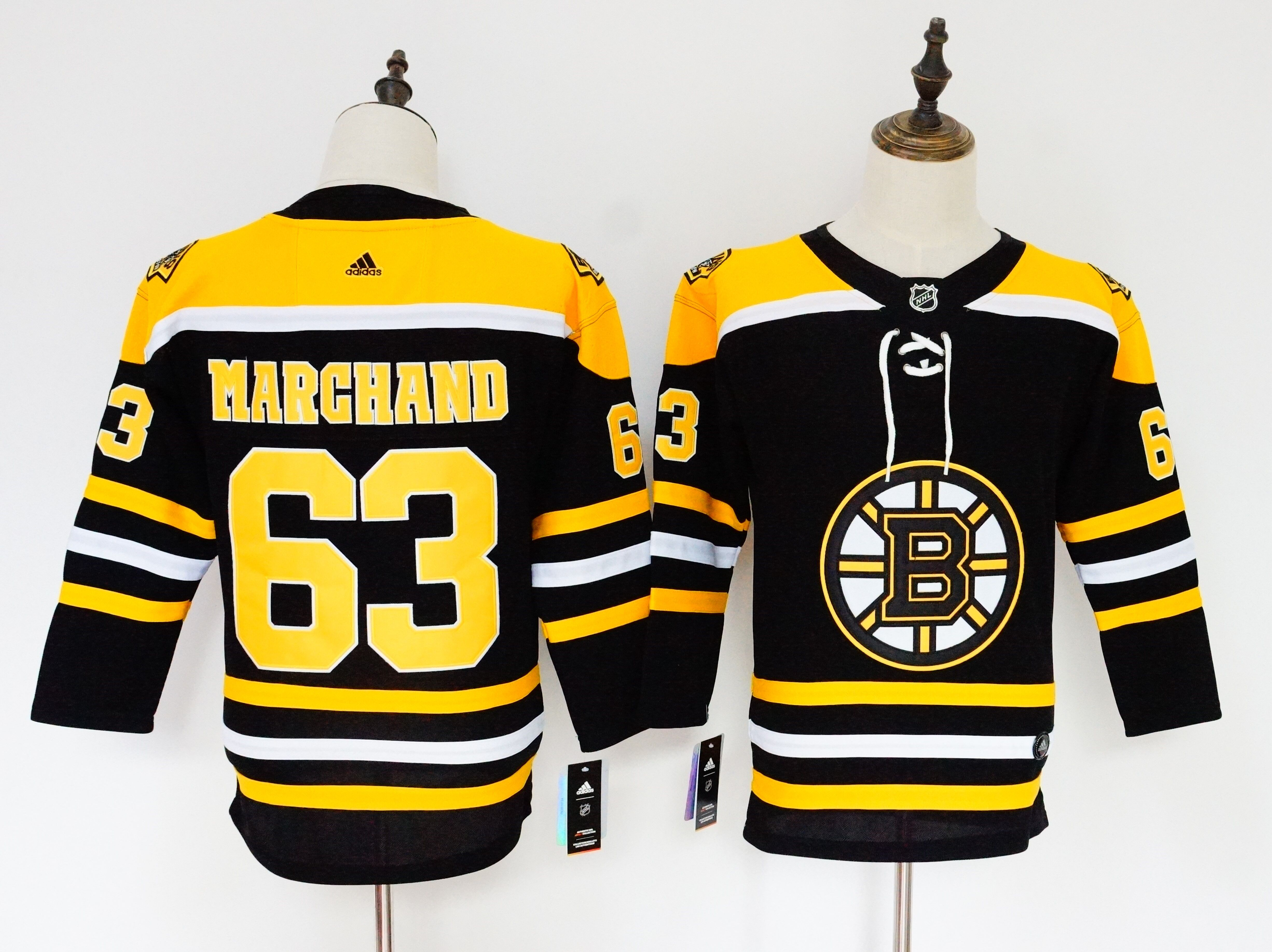 Bruins 63 Brad Marchand Black Youth Adidas Jersey