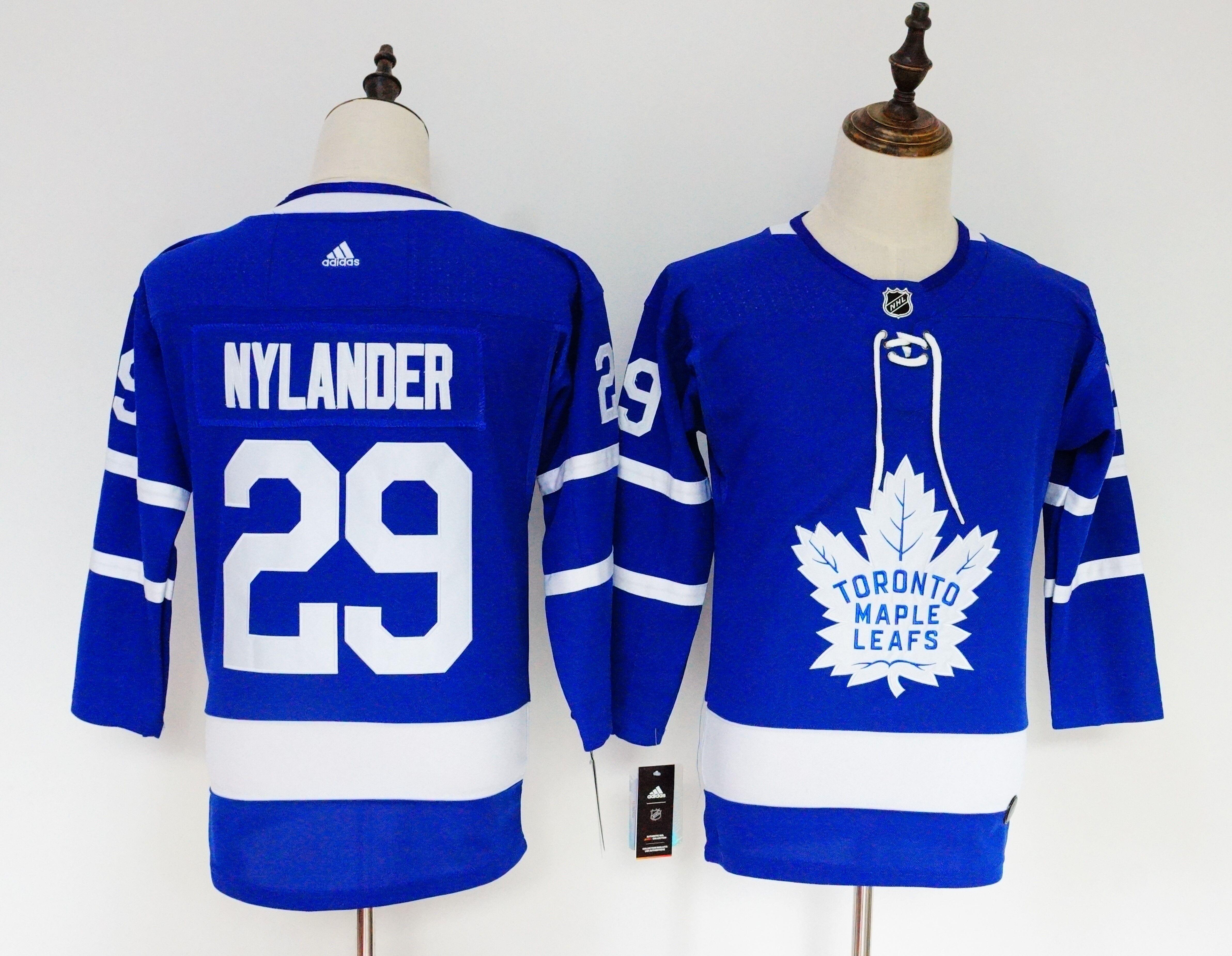 Maple Leafs 29 William Nylander Blue Youth Adidas Jersey