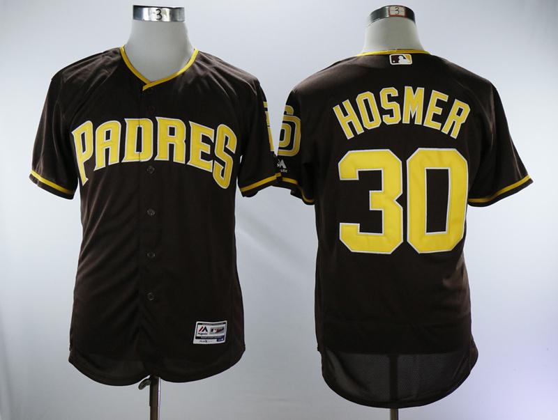 Padres 30 Eric Hosmer Brown Alternate Flexbase Jersey