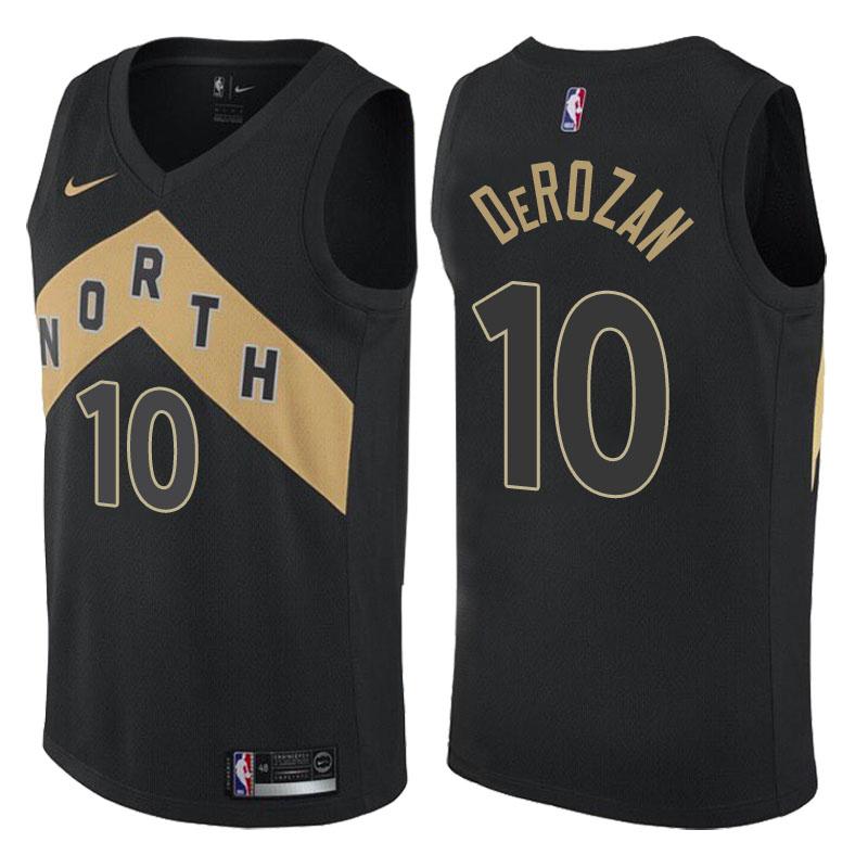 Raptors 10 DeMar DeRozan Black City Edition Nike Swingman Jersey