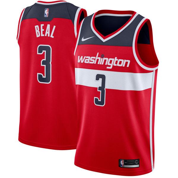 Wizard 3 Bradley Beal Red Nike Swingman Jersey
