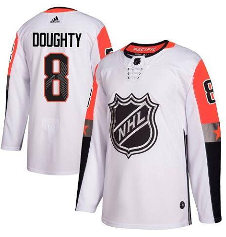 Kings 8 Drew Doughty White Adidas 2018 NHL All-Star Game Atlantic Division Authentic Player Jersey