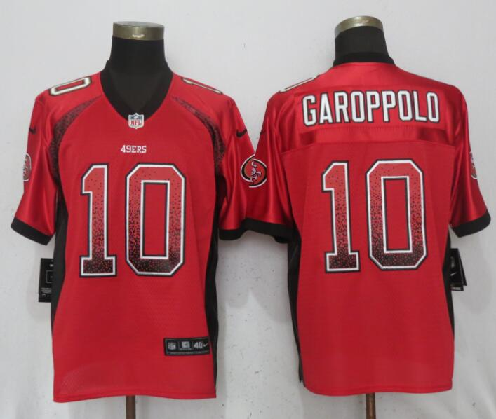 Nike 49ers 10 Jimmy Garoppolo Red Drift Fashion Elite Jersey