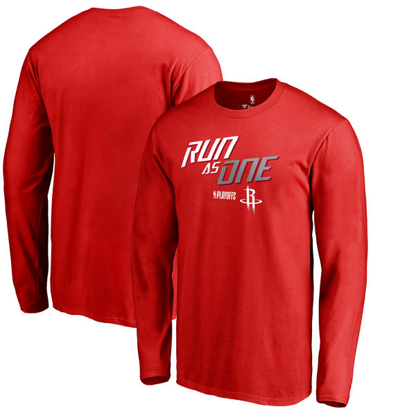 Houston Rockets Fanatics Branded 2018 NBA Playoffs Slogan Long Sleeve T-Shirt Red