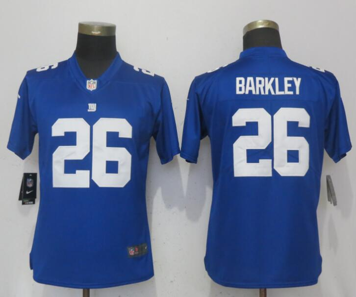 Nike Giants 26 Saquon Barkley Royal Women Vapor Untouchable Limited Jersey 76867d3d7