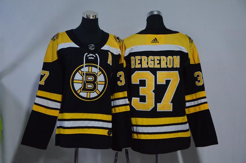 Bruins 37 Patrice Bergeron Black Youth Adidas Jersey