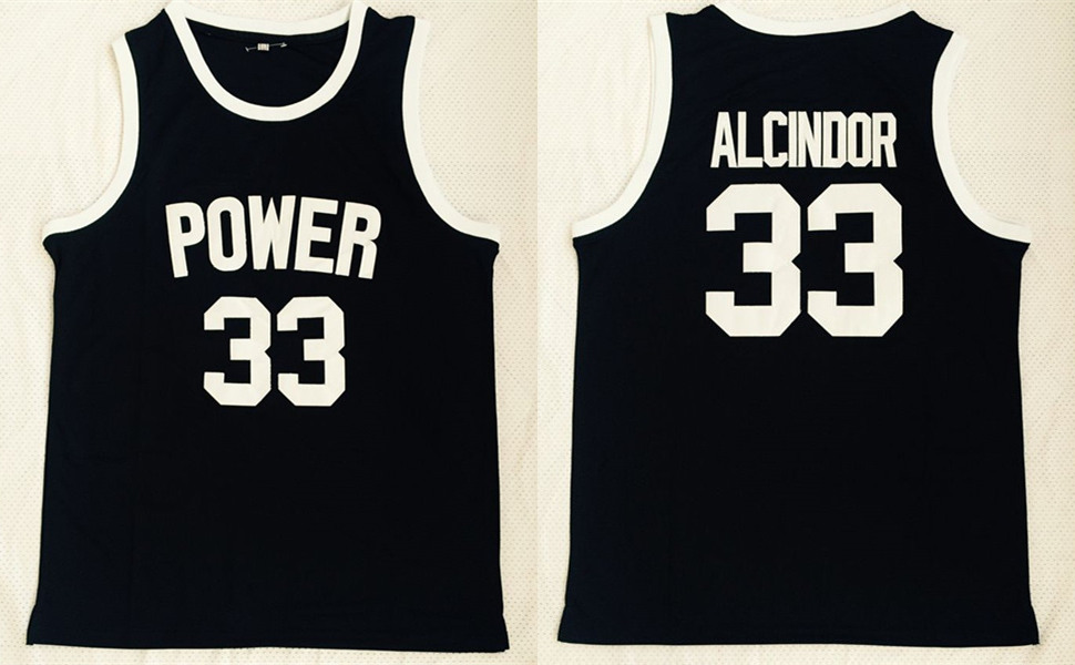 Power Memorial High School 33 Kareem Abdul-Jabbar Black Basketball Jersey