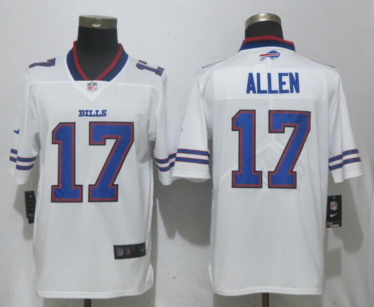 quality design c6372 96ea2 New Nike Bills 17 Josh Allen White Vapor Untouchable Limited ...