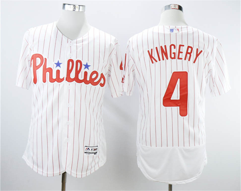 Phillies 4 Scott Kingery White Flexbase Jersey