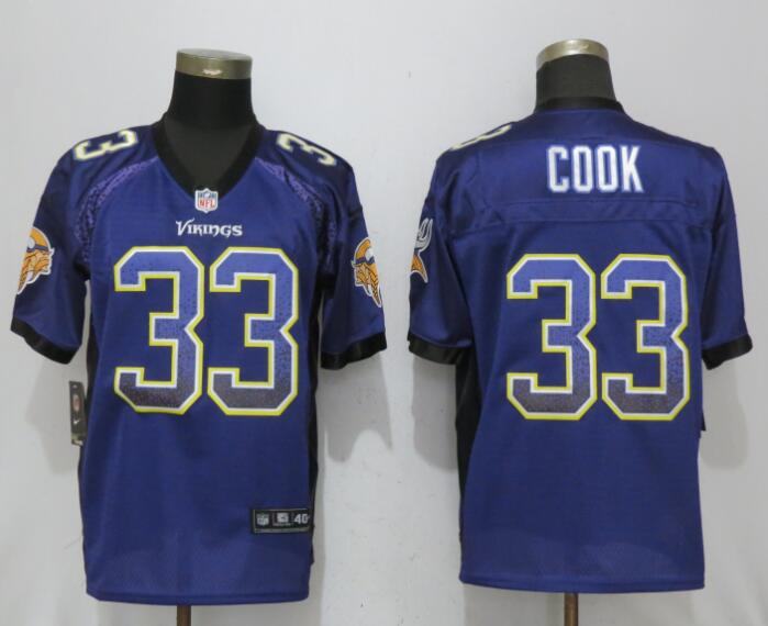 Nike Vikings 33 Dalvin Cook Purple Drift Fashion Elite Jersey
