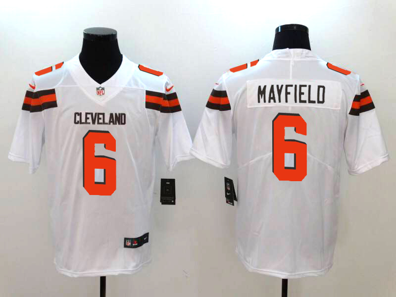 df631484929 New Nike Browns 6 Baker Mayfield White Vapor Untouchable Limited ...
