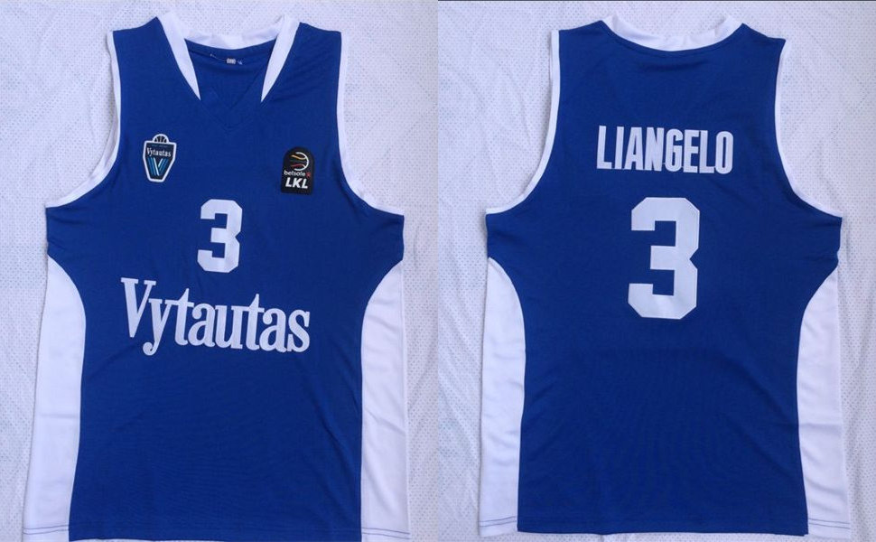 BC Prienai 3 Liangelo Ball Blue Basketball Jersey