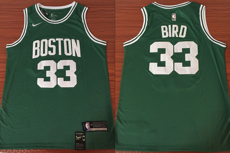 Celtics 33 Larry Bird Green Nike Swingman Jersey