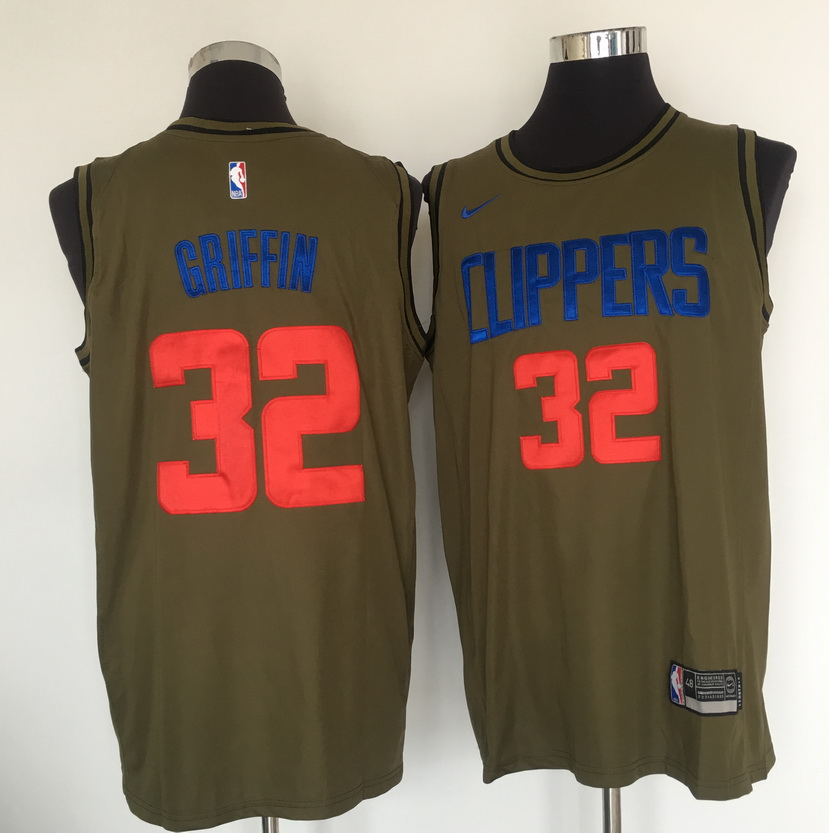 Clippers 32 Blake Griffin Olive Nike Swingman Jersey