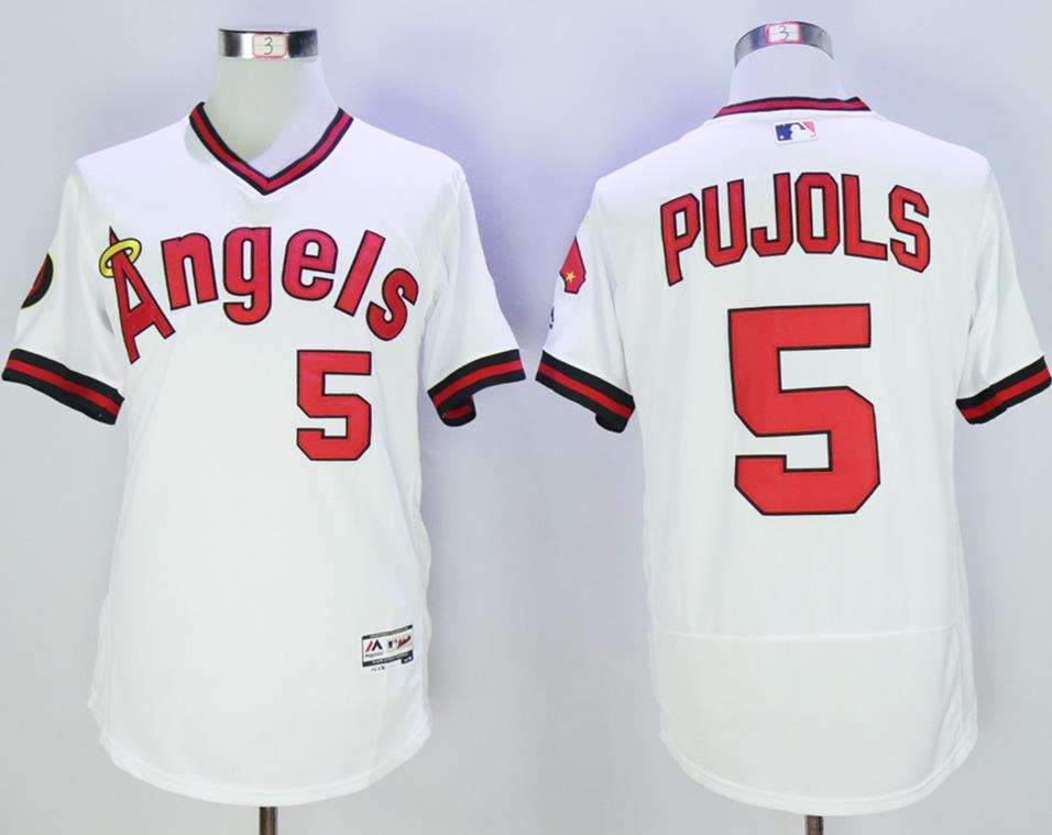 Angels Albert Pujols White Flexbase Jersey