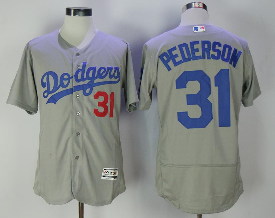 Dodgers 31 Joc Pederson Gray Alternate Road Flexbase Jersey
