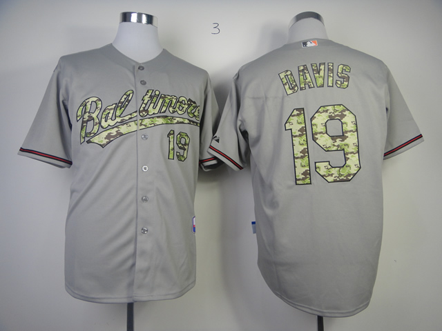 Orioles 19 Chris Davis Gray Camo Cool Base Jersey