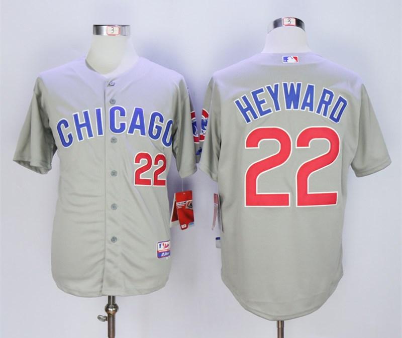 Cubs 22 Jason Heyward Gray Road Cool Base Jersey