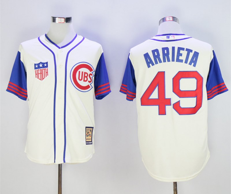 Cubs 49 Jake Arrieta Cream Cooperstown Collection Jersey