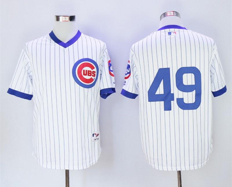 Cubs 49 Jake Arrieta White 1988 Turn Back The Clock Jersey