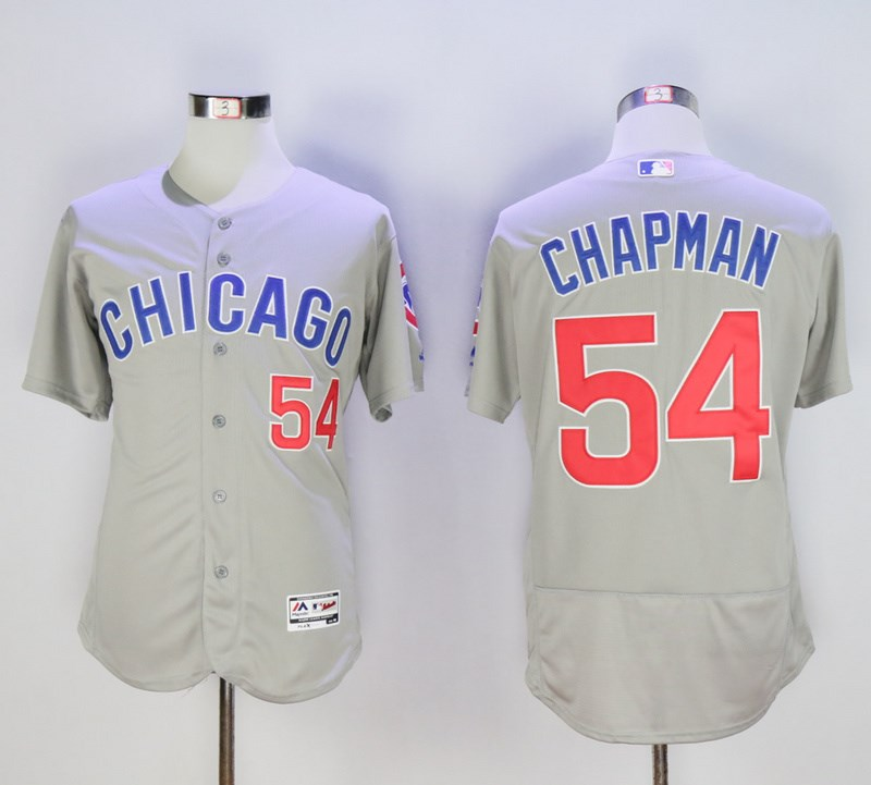 Cubs 54 Aroldis Chapman Gray Flexbase Jersey