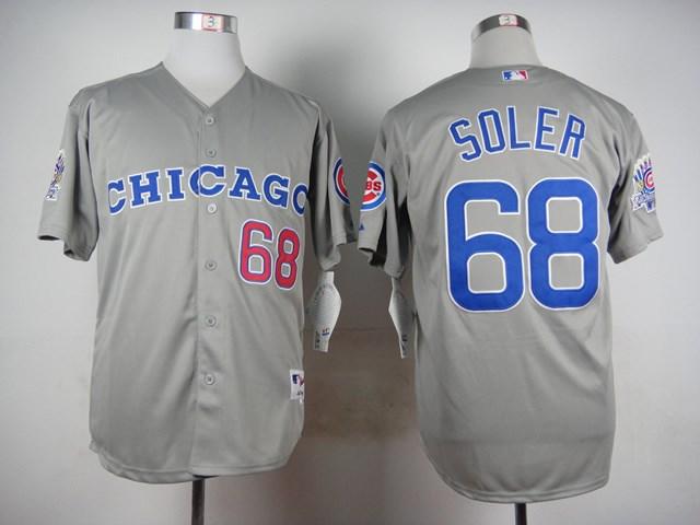 Cubs 68 Jorge Soler Gray Throwback Jersey