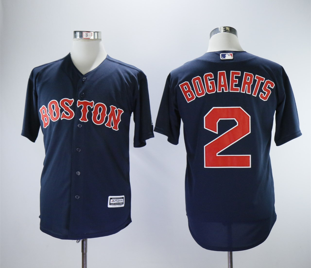 Red Sox 2 Xander Bogaerts Navy Cool Base Jersey