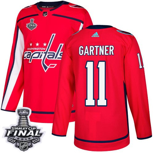 Capitals 11 Mike Gartner Red 2018 Stanley Cup Final Bound Adidas Jersey