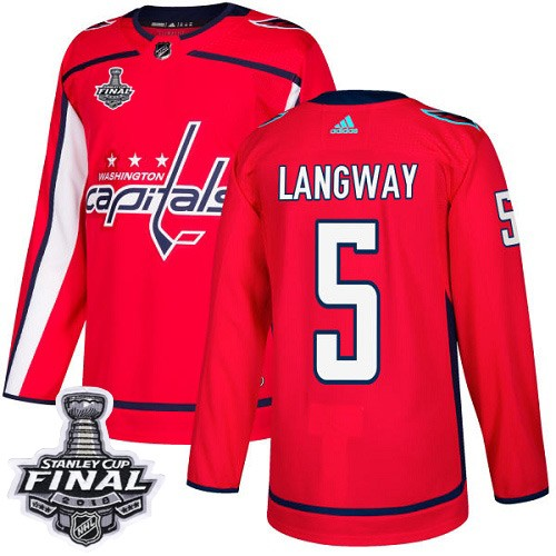 Capitals 5 Rod Langway Red 2018 Stanley Cup Final Bound Adidas Jersey