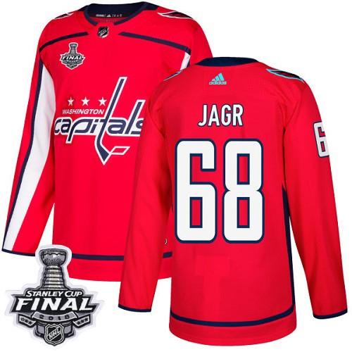 Capitals 68 Jaromir Jagr Red 2018 Stanley Cup Final Bound Adidas Jersey