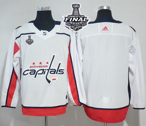 Capitals Blank White 2018 Stanley Cup Final Bound Adidas Jersey