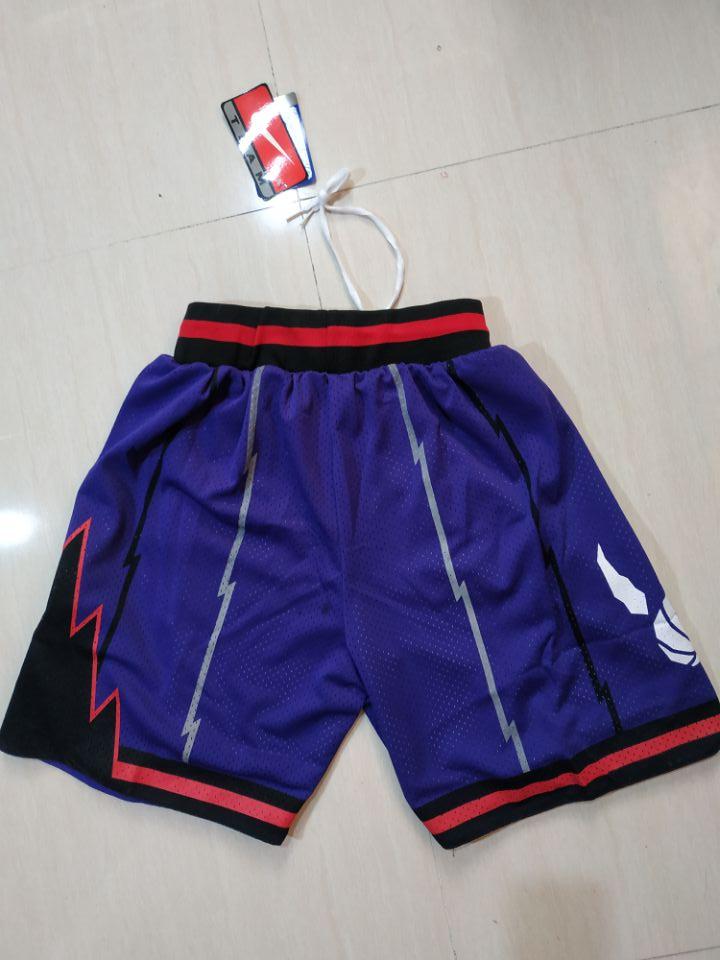 Raptors Purple Nike Throwback Shorts